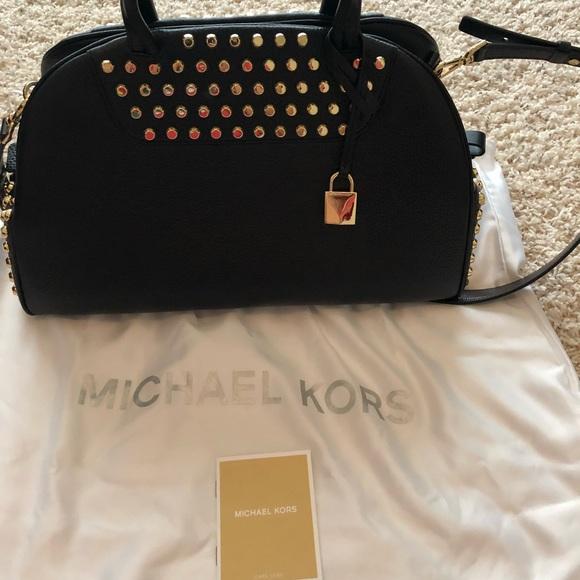 7768c276ee32ff Michael Kors Bags | Austin Large Bowling Satchel | Poshmark